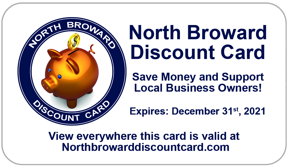 North Broward Discount Card Front of card
